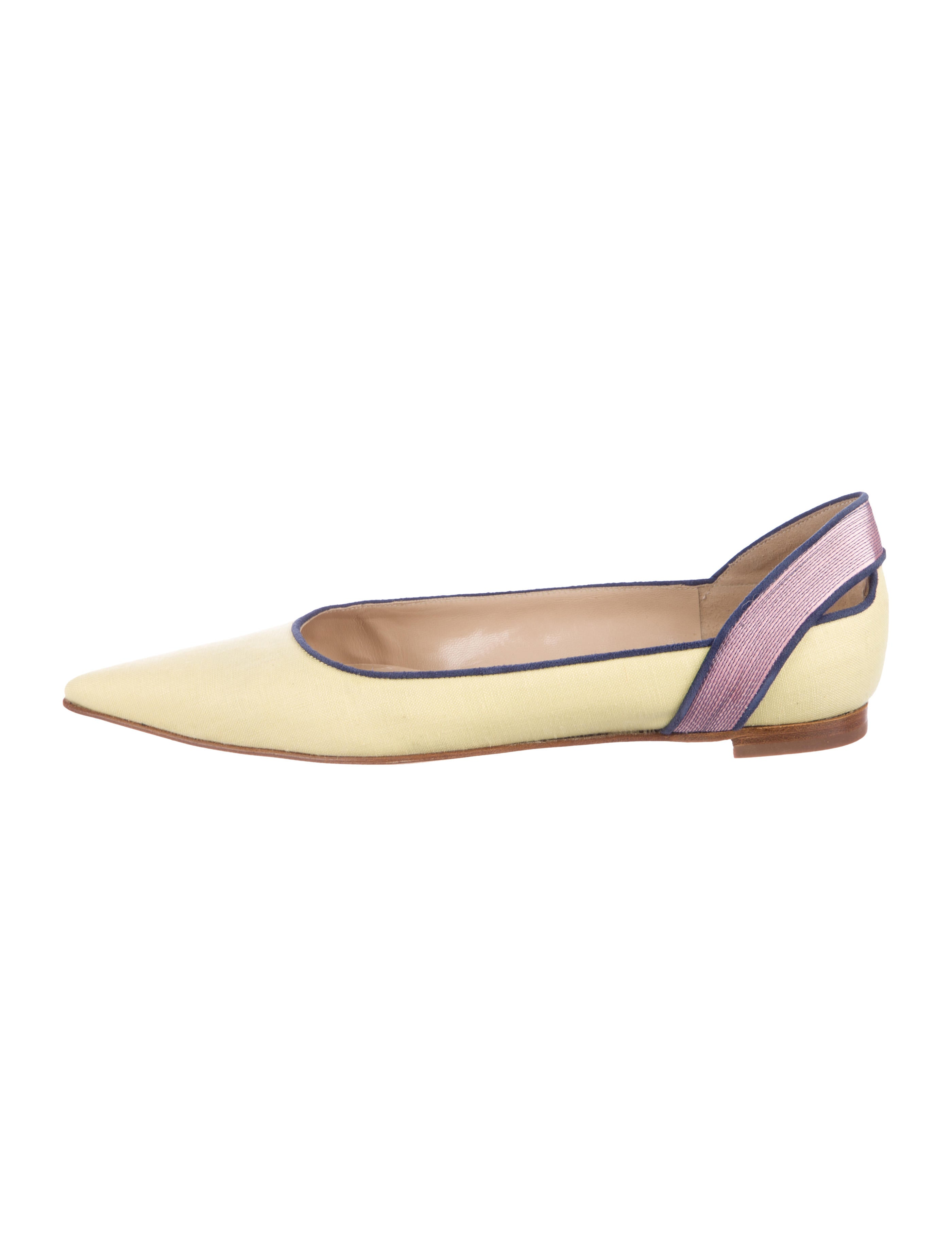 online cheap online Manolo Blahnik Canvas Round-Toe Flats store online fashionable online free shipping discounts best place cheap price wwP7i