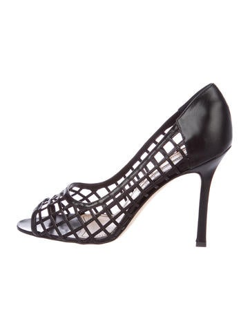 clearance cheap price marketable cheap price Manolo Blahnik Fletimo Peep-Toe Pumps shop offer sale online free shipping pay with visa YqcnZpCCjK