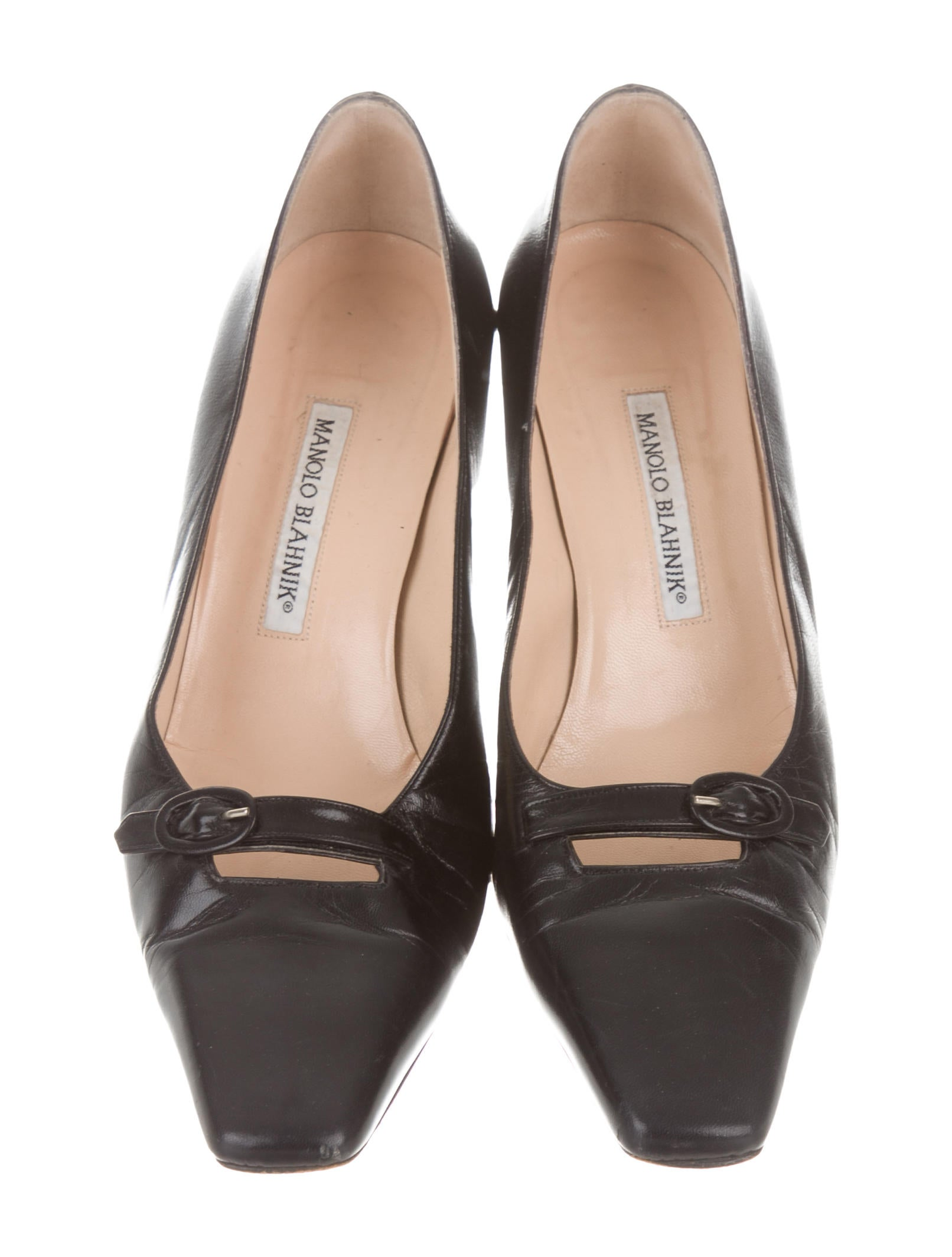 free shipping footaction Manolo Blahnik Leather Round-Toe Oxfords cheap sale in China qEfzOgHcU