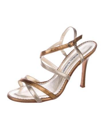Metallic Multistrap Sandals