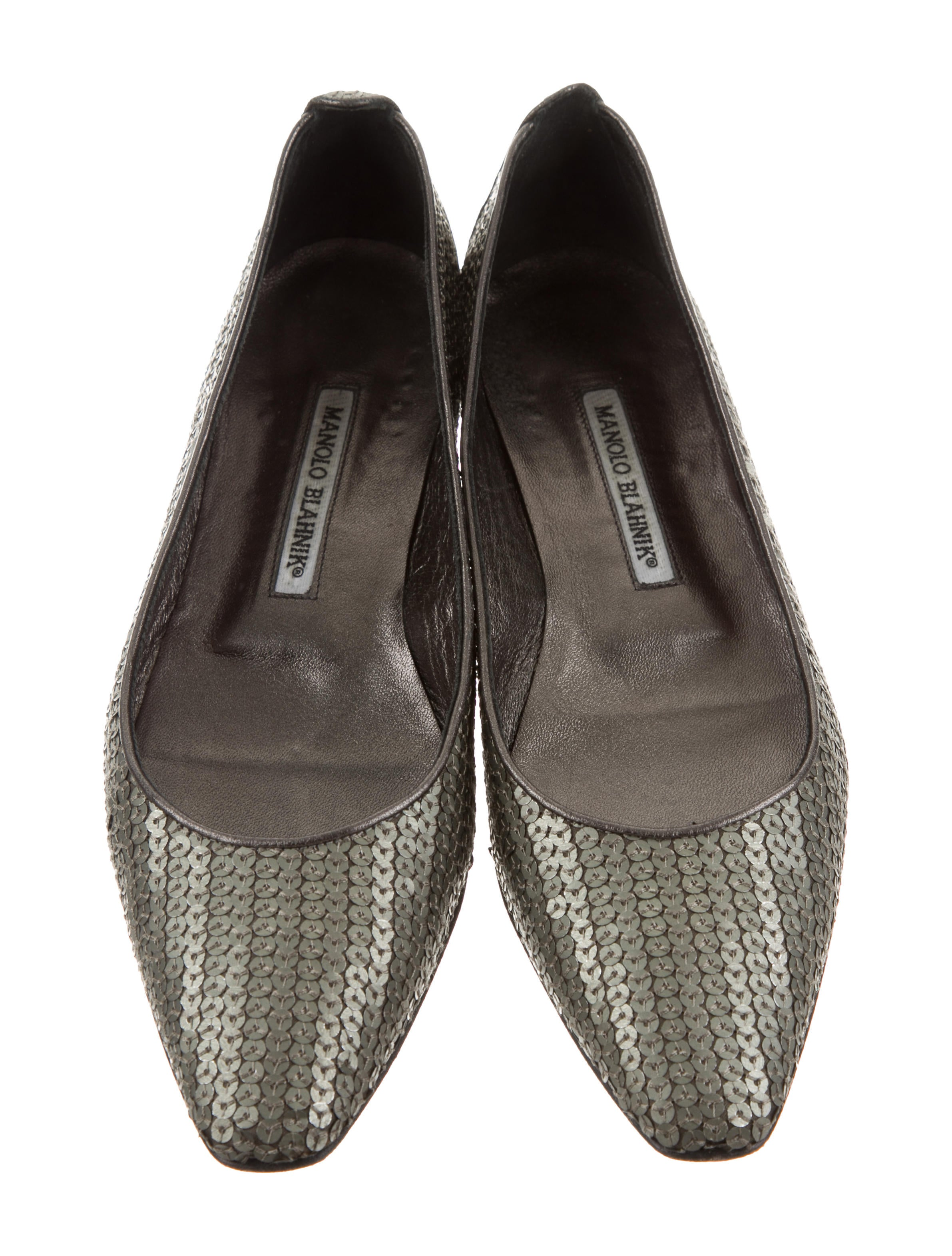sale the cheapest choice cheap online Manolo Blahnik Sequined Pointed Square-Toe Flats bgW1hYD