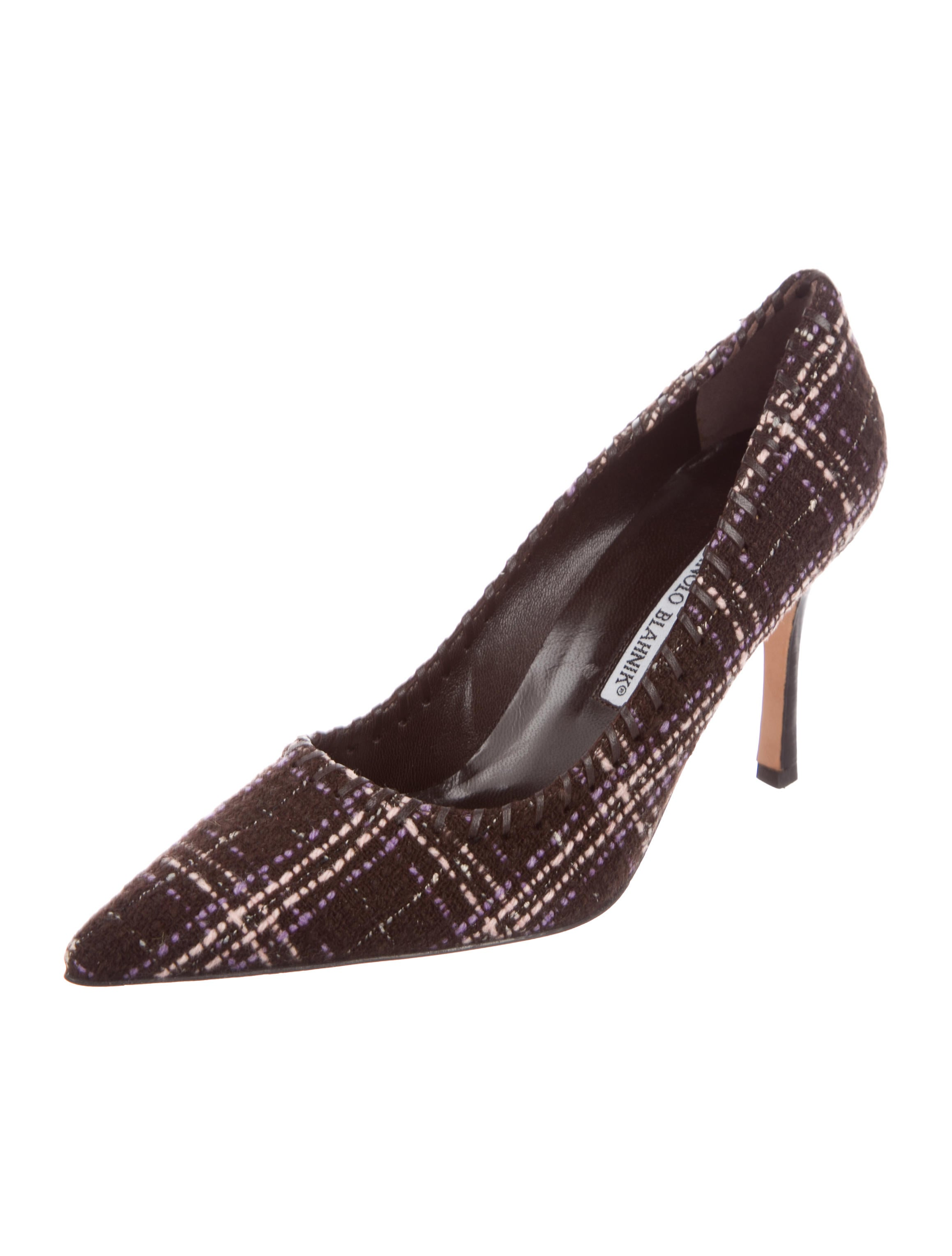 Manolo Blahnik Tweed Pointed-Toe Pumps w/ Tags free shipping for sale buy cheap recommend 65RyS0zg
