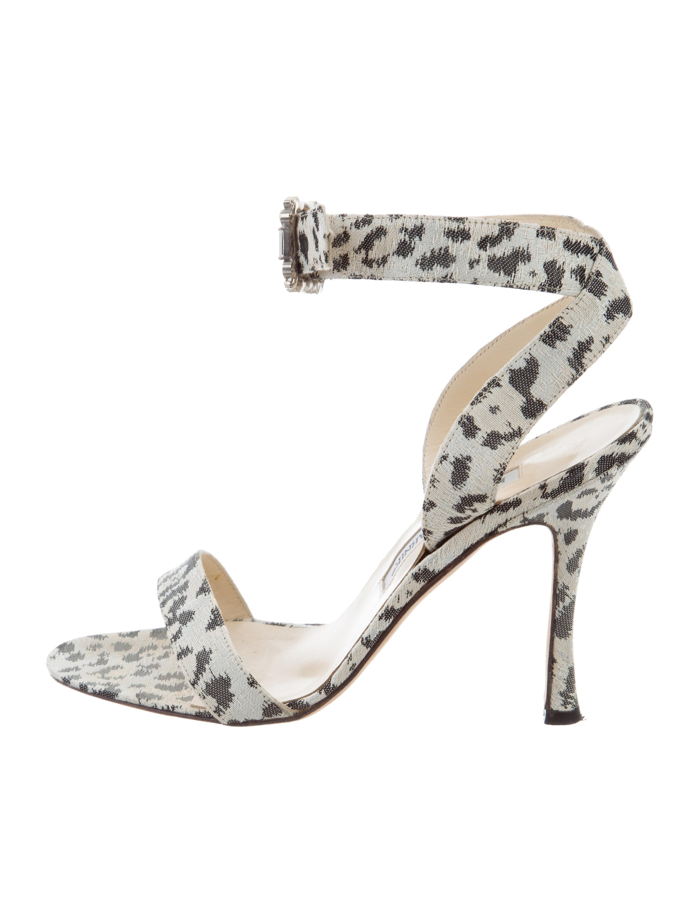 cost best place cheap price Manolo Blahnik Woven Ankle Strap Sandals clearance for cheap great deals for sale Czf4QgZEc