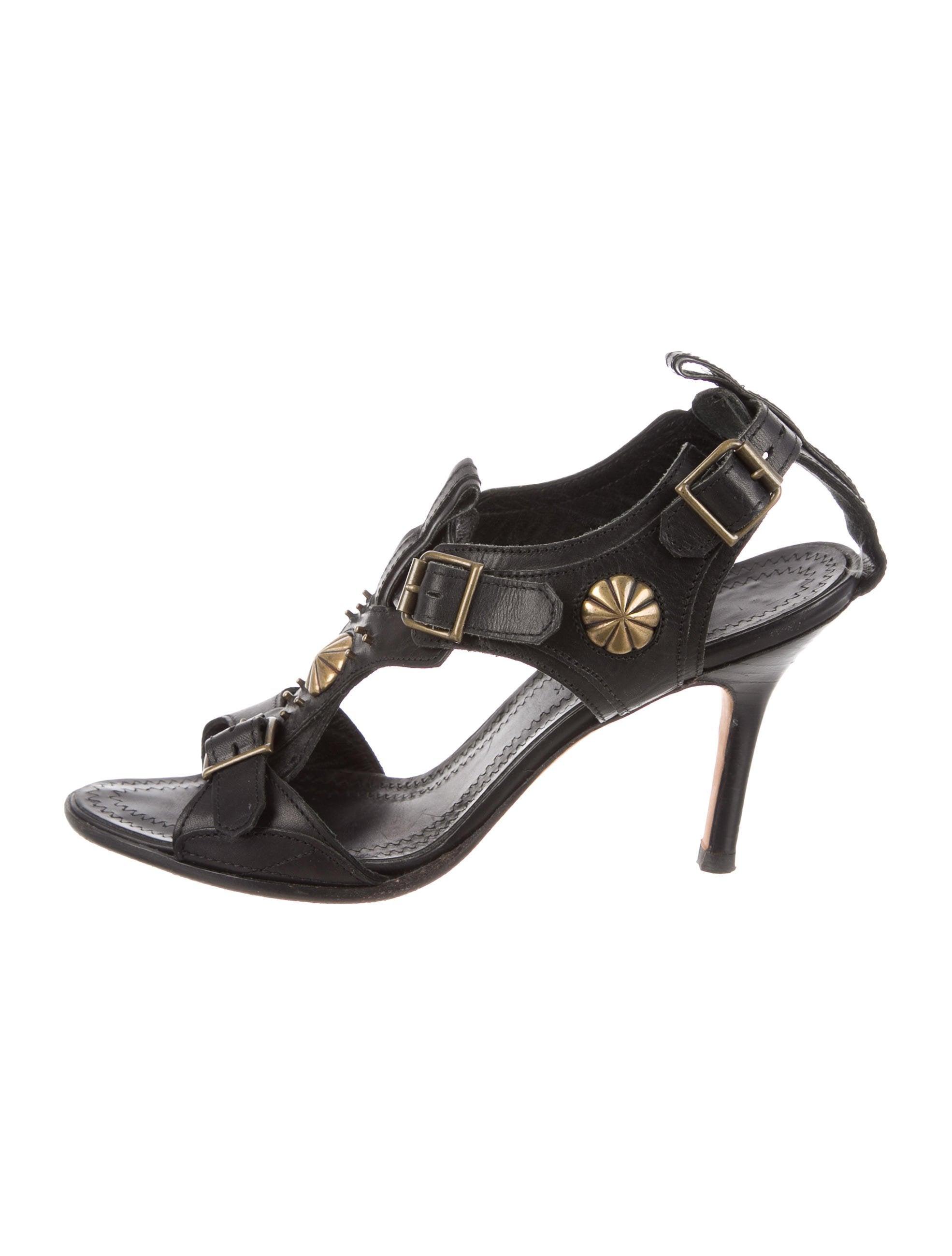 Manolo Blahnik Leather Stud-Embellished Sandals discounts cheap big sale clearance outlet v2RjDcJi