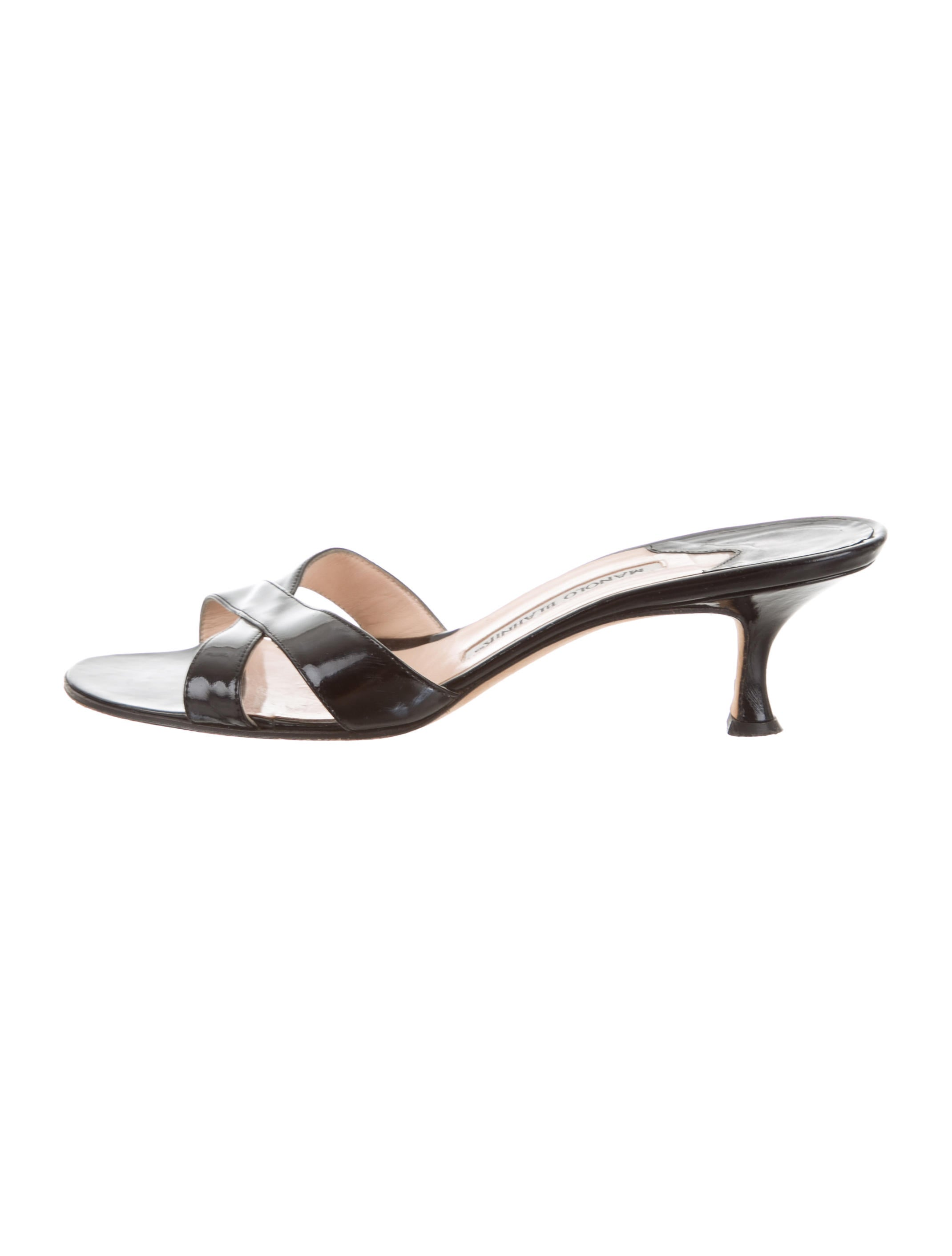 Manolo Blahnik Crossover Slide Sandals free shipping discounts sast sale online discount low shipping affordable cheap online oLUaFqa