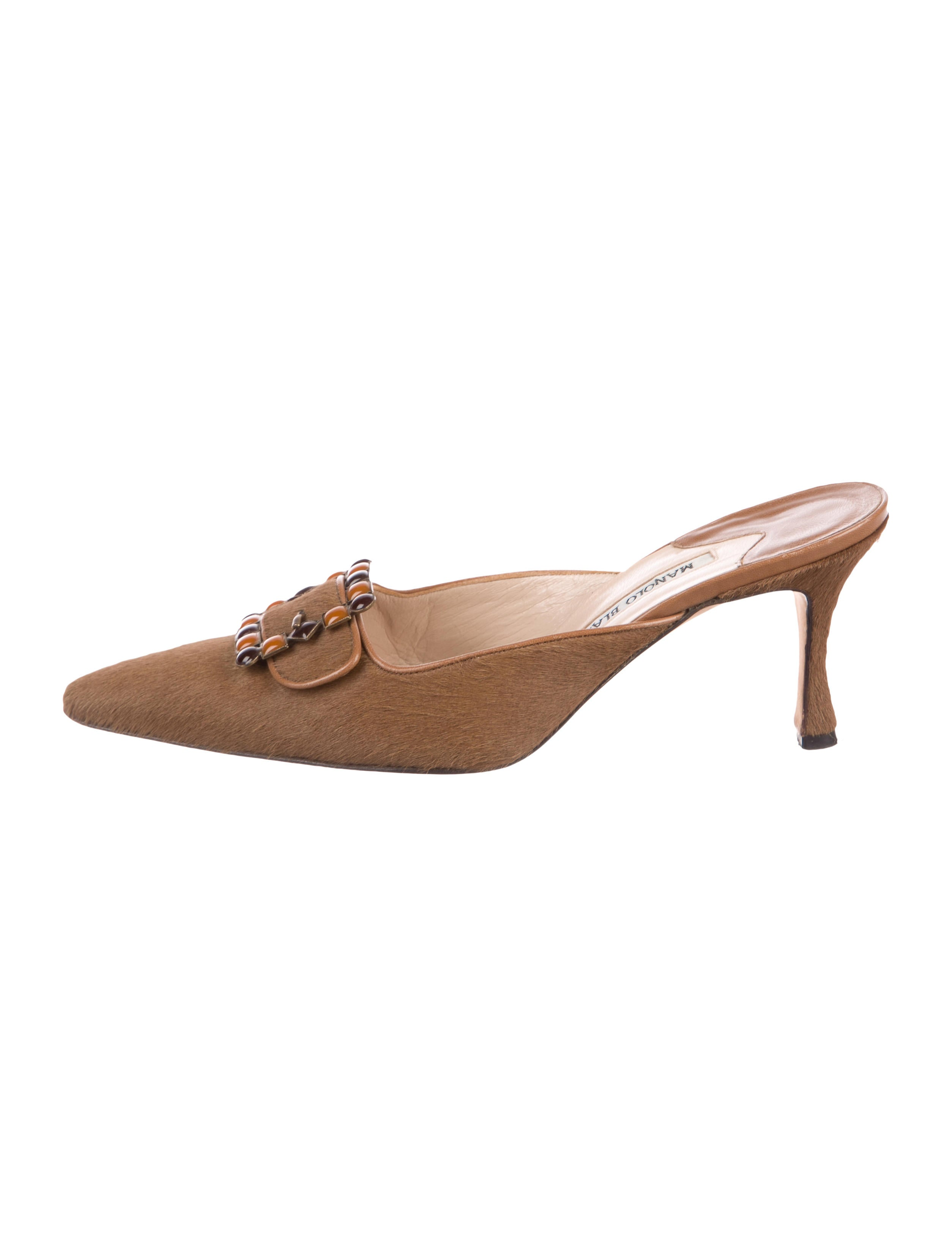 Manolo Blahnik Ponyhair Pointed-Toe Mules lowest price cheap price pay with visa for sale footaction zKcH7yPB