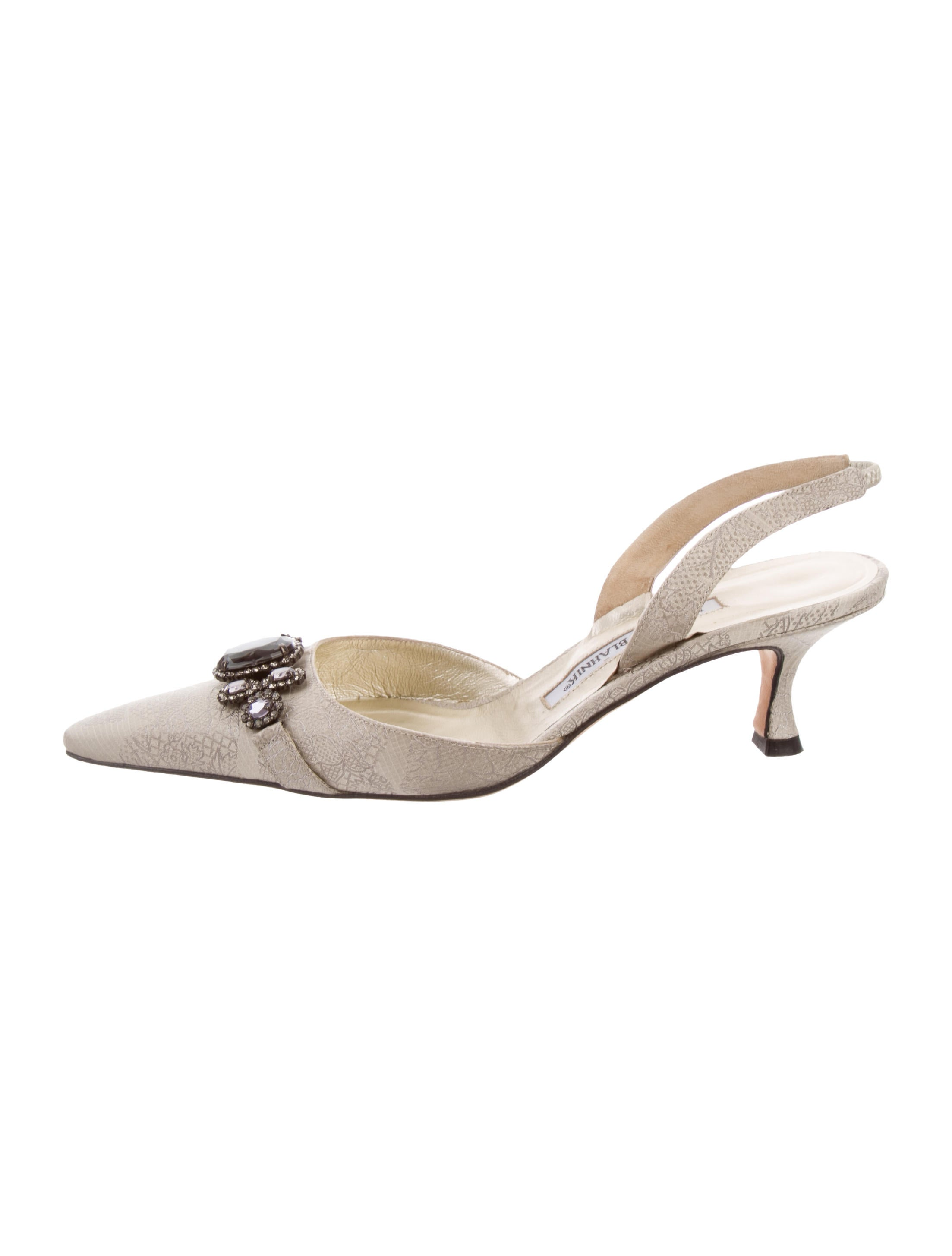 low shipping cheap online Manolo Blahnik Jacquard Slingback Pumps sale how much for cheap price sn1xjC
