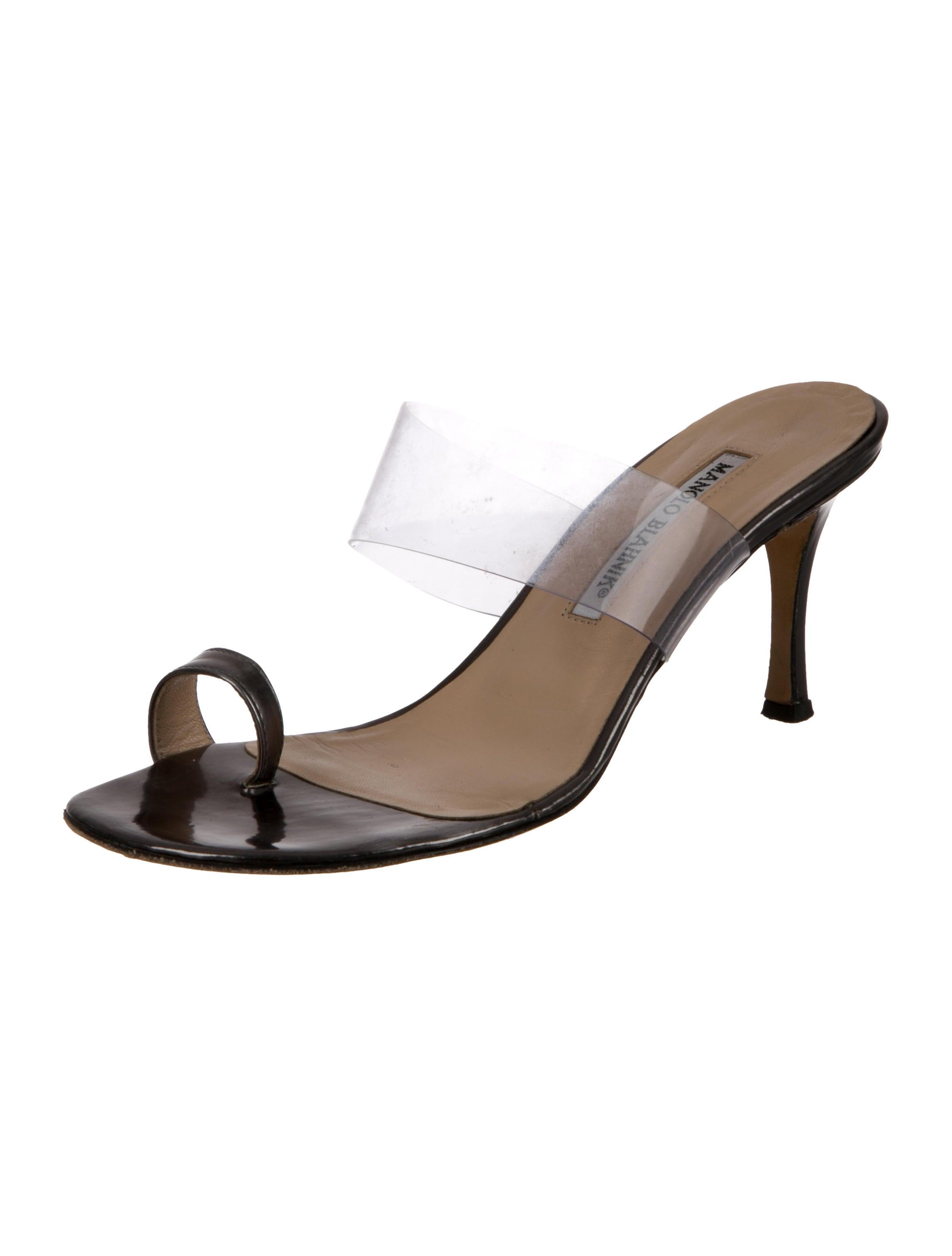 outlet marketable Manolo Blahnik PVC Slide Sandals real cheap price outlet locations cheap price 2J8G3m