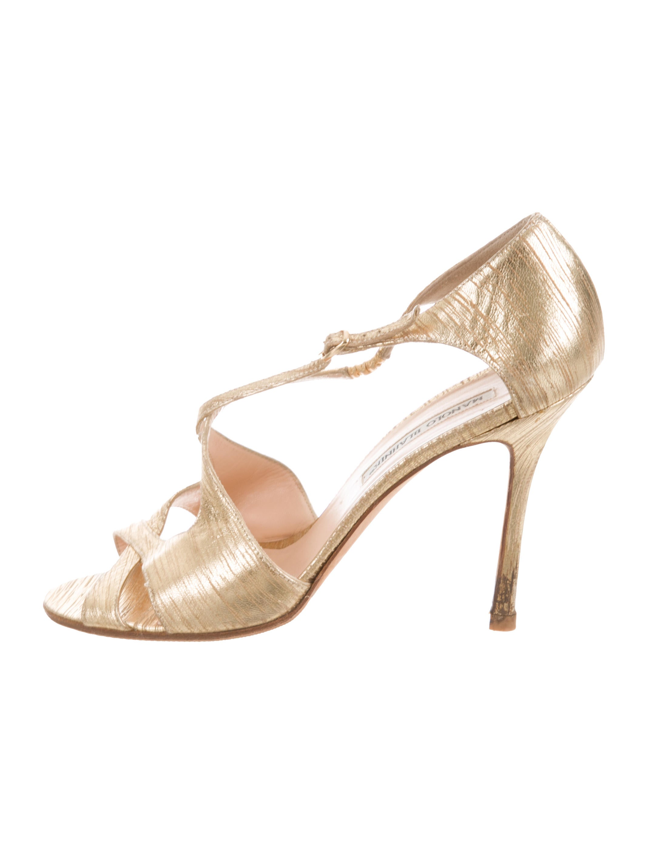 outlet shop fashionable cheap price Manolo Blahnik Leather Crossover Pumps for cheap discount buy cheap 2014 unisex i6jSjUO