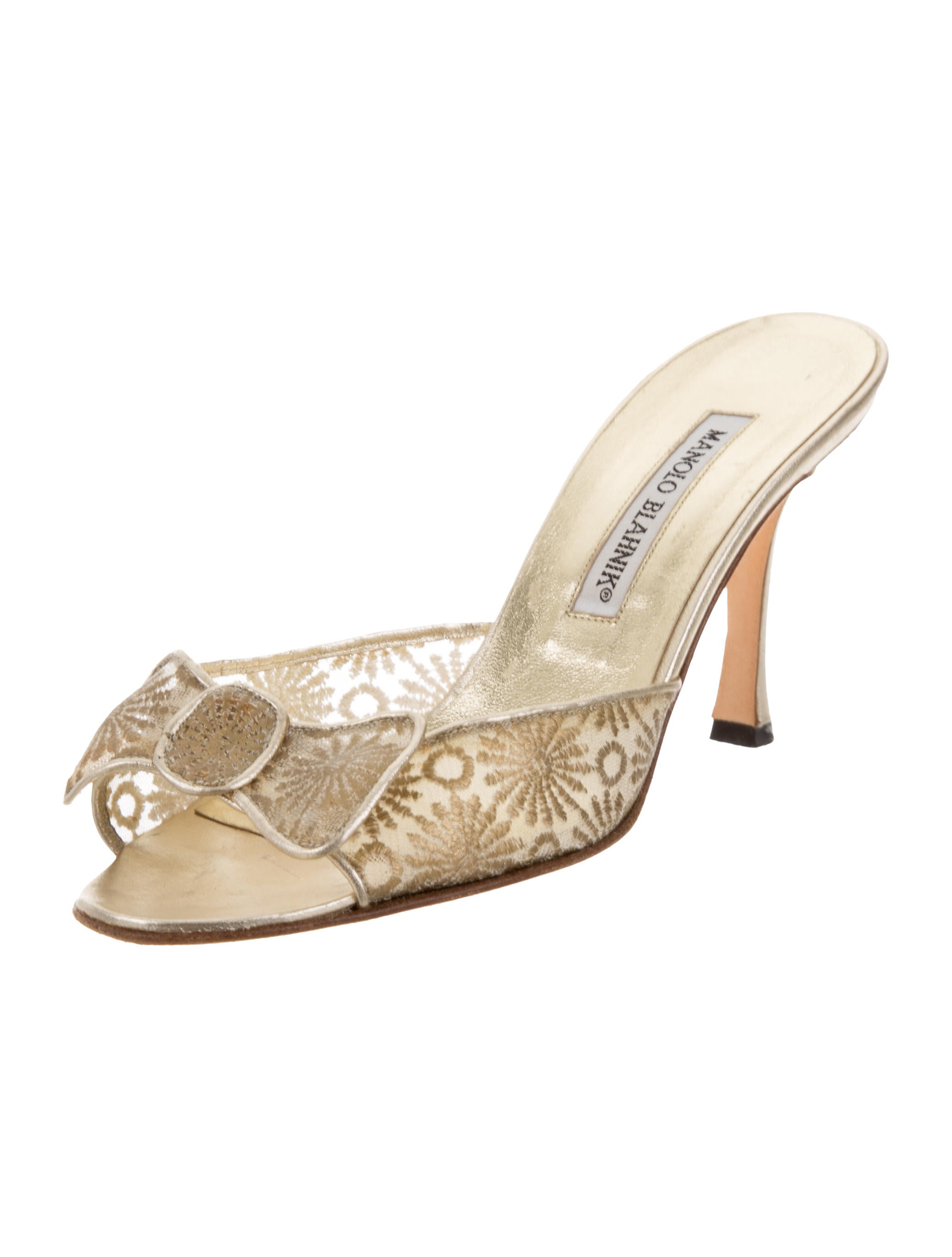 Manolo Blahnik Mesh Slide Sandals sale best store to get outlet low price buy cheap factory outlet high quality sale online discount wiki W1rqWz