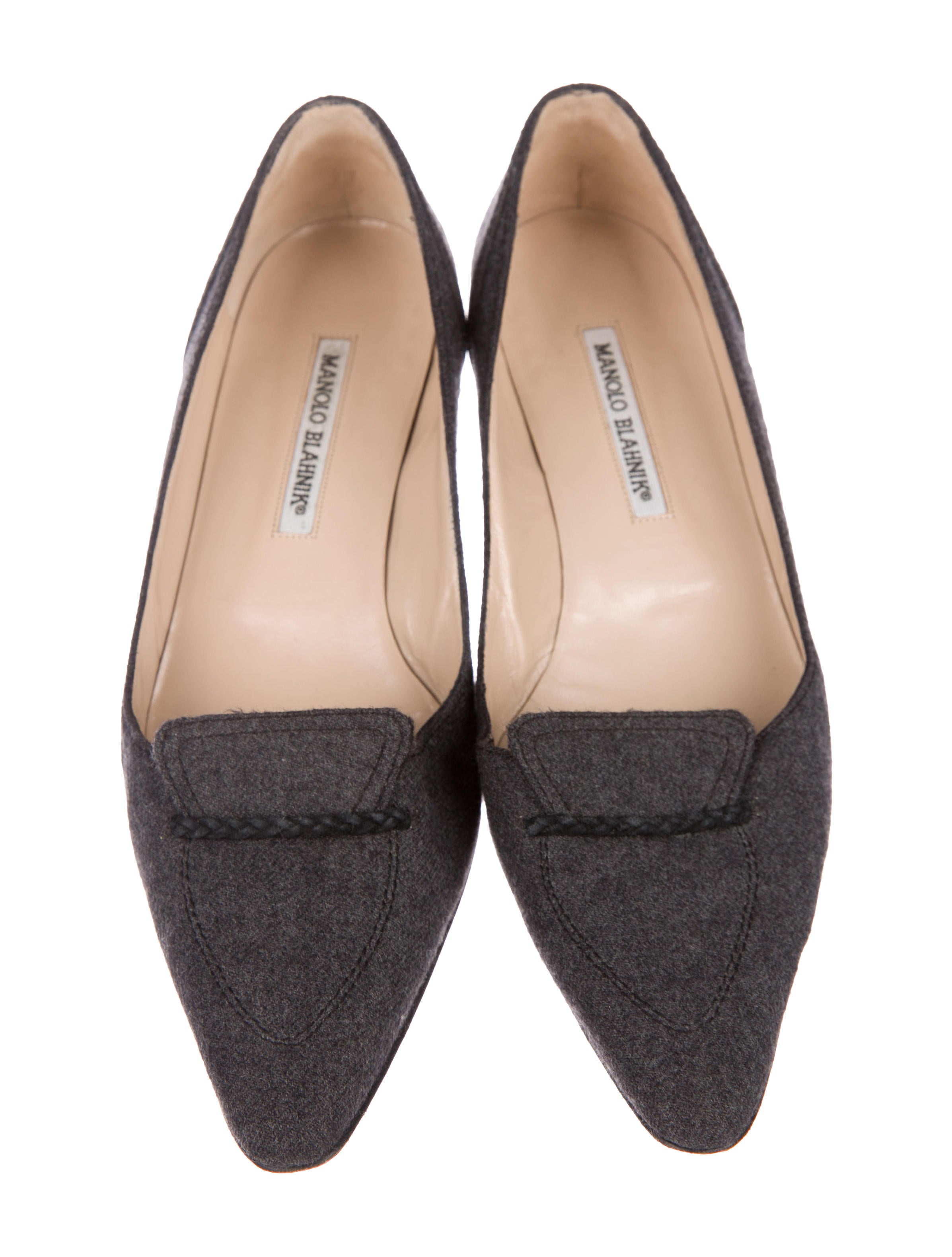 Manolo Blahnik Felt Pointed-Toe Flats outlet factory outlet buy cheap shop offer from china cheap price IxlgCtSfv