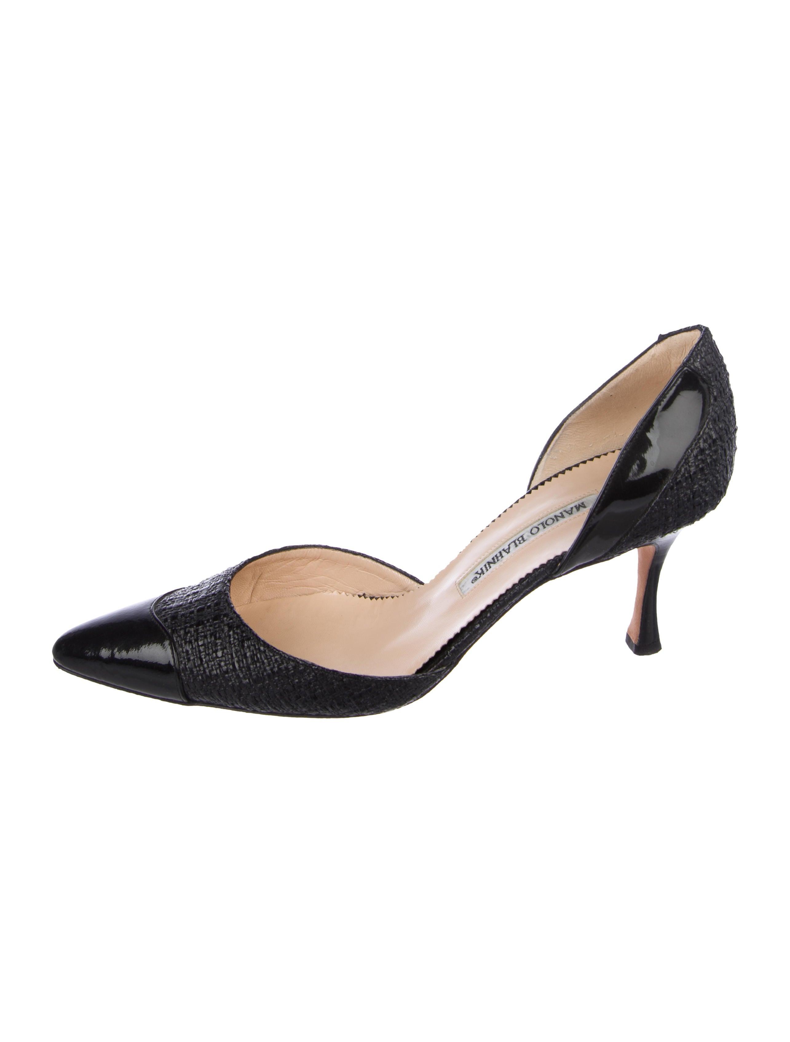 b869cffb9dd24 Manolo Blahnik Woven d'Orsay Pumps - Shoes - MOO88953 | The RealReal