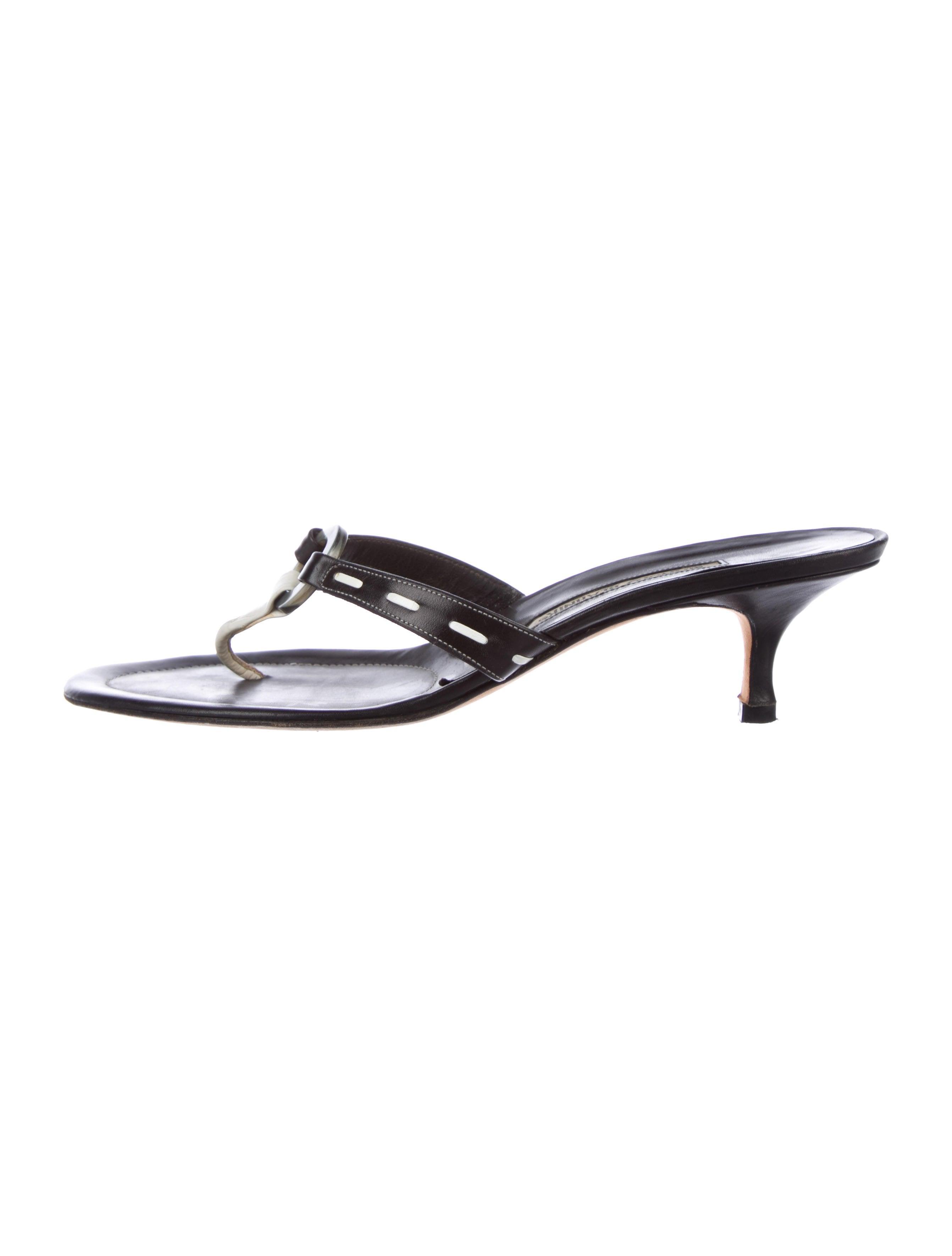 65541fa3356f9 ... Manolo Blahnik Embellished Leather Sandals. Embellished Leather Sandals