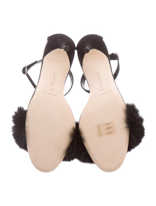 1cd60a2aa0094 Manolo Blahnik Mincha Fur-Trim d'Orsay Sandal - Shoes - MOO91872 ...