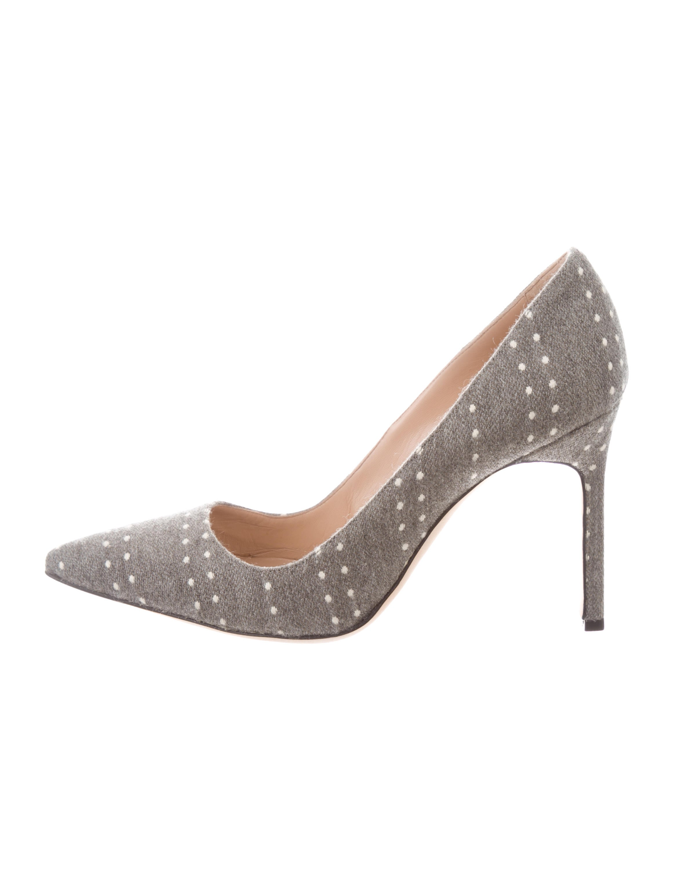 1d8488c8f4f6 Manolo Blahnik BB Polka Dot Flannel Pumps - Shoes - MOO97986 | The ...