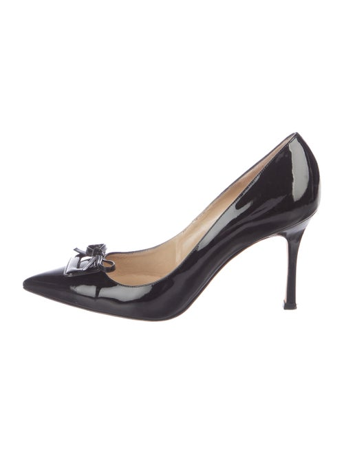 ed8ad8be2579 Manolo Blahnik Patent Leather Pointed-Toe Pumps - Shoes - MOO99894 ...