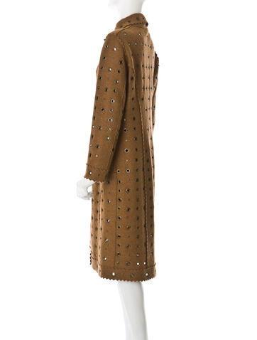 Eyelet Wool Coat