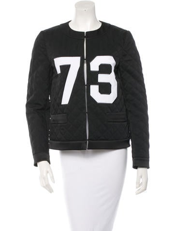 Moschino Quilted Varsity Jacket Clothing Mos23620 The Realreal