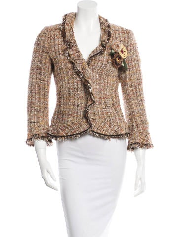 Virgin Wool Tweed Blazer