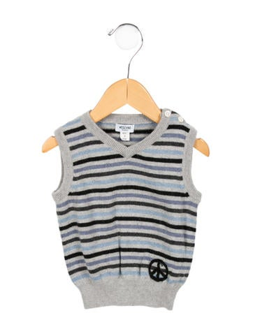 Moschino Boys' Striped V-Neck Sweater None
