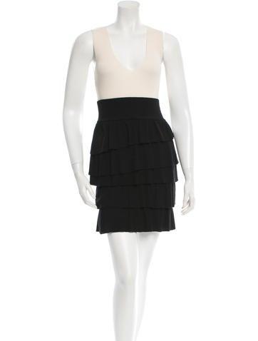 Moschino Wool Ruffled Dress None