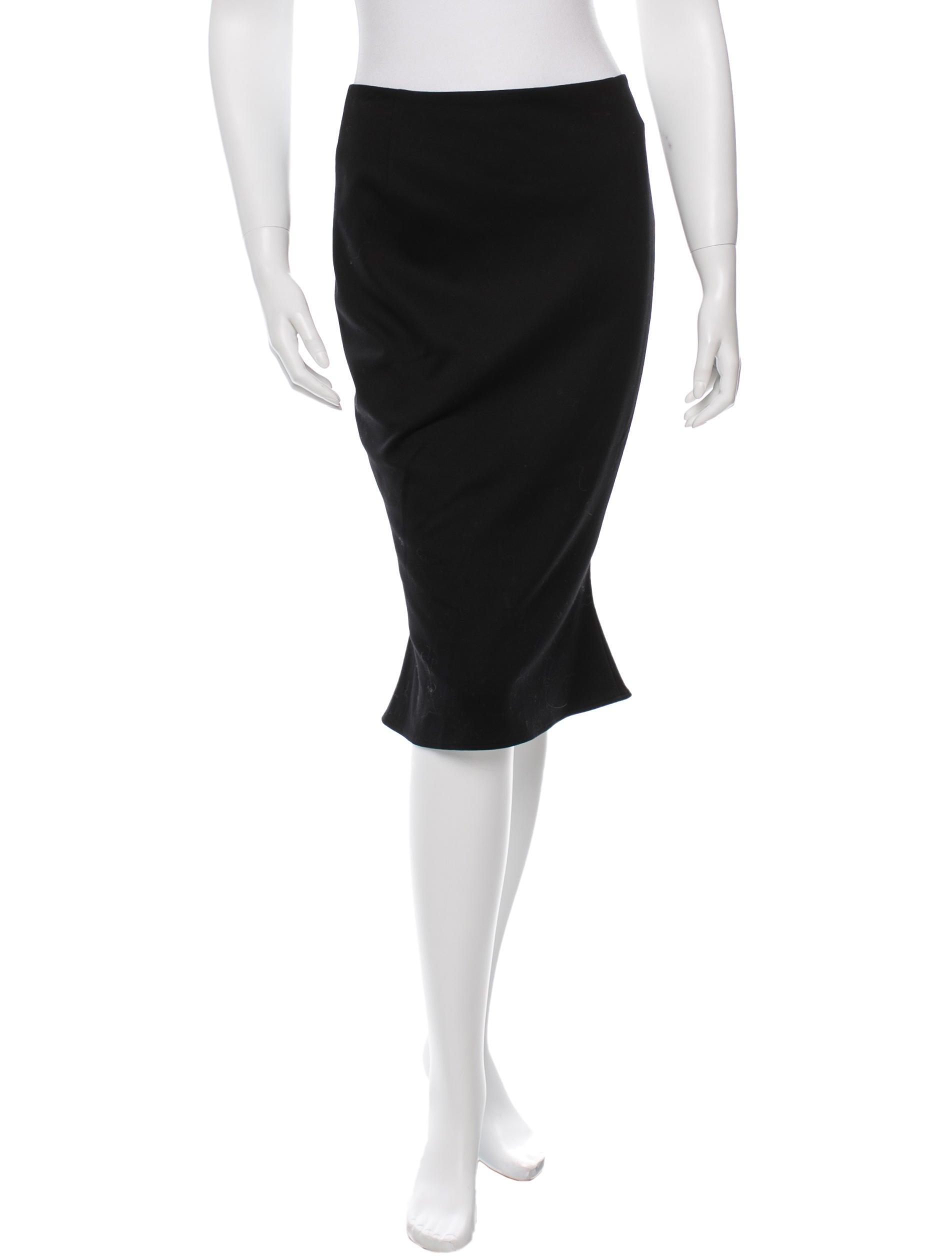 moschino knit knee length skirt clothing mos24669
