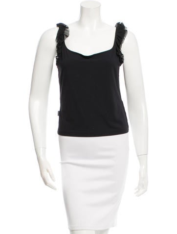 Moschino Mesh-Accented Sleeveless Top None