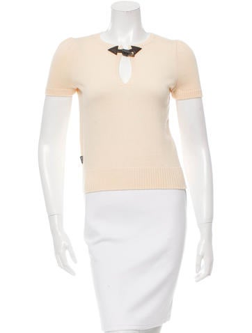 Moschino Short Sleeve Wool Sweater None