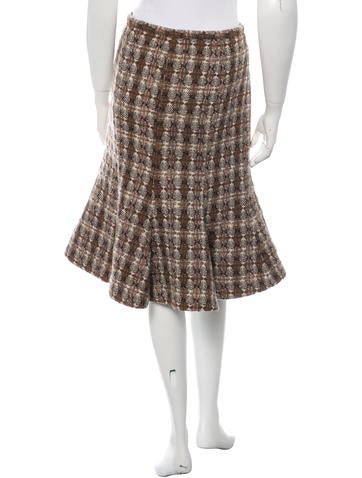 Knee-Length Tweed Skirt