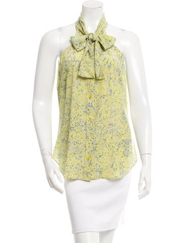 Moschino Silk Printed Top None
