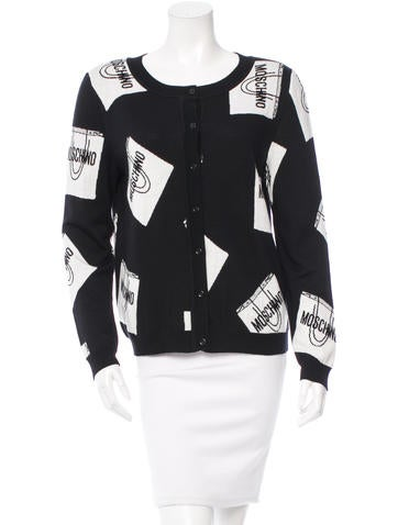 Moschino Logo Wool Cardigan w/ Tags None