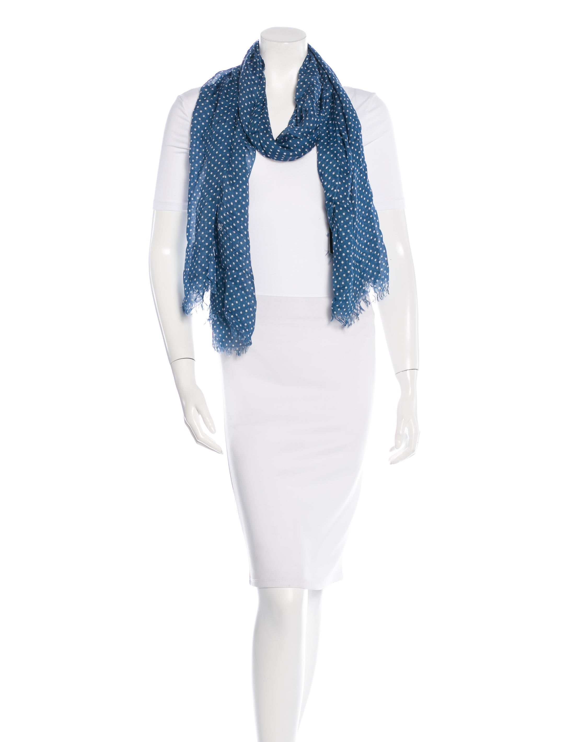 moschino dotted peace scarf w tags accessories
