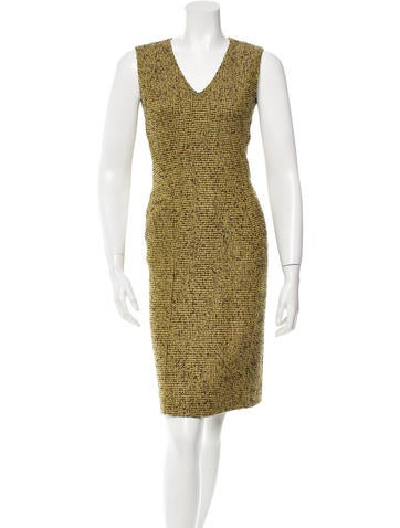 Moschino Patterned Wool Dress None