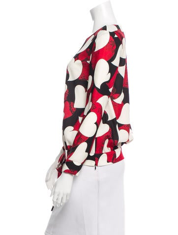 Printed Sash Tie-Accented Top