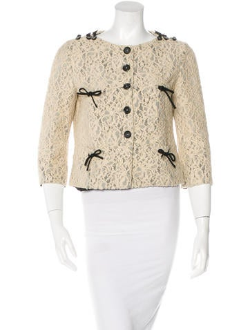 Moschino Lace Cropped Jacket None