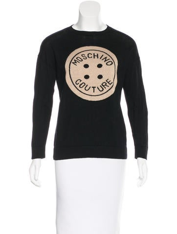 Moschino Intarsia Virgin Wool Sweater None