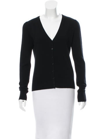Moschino Cashmere Button-Up Cardigan None