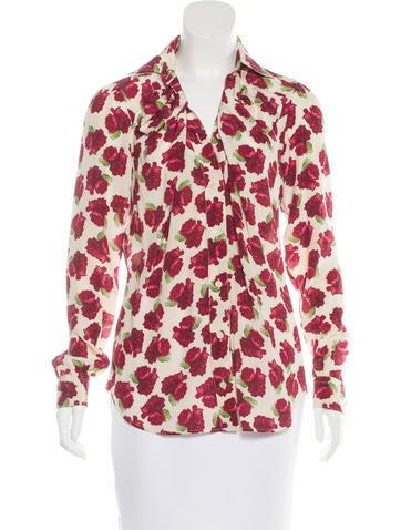 Moschino Silk Button-Up Top None