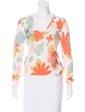Moschino Floral Knit Top None