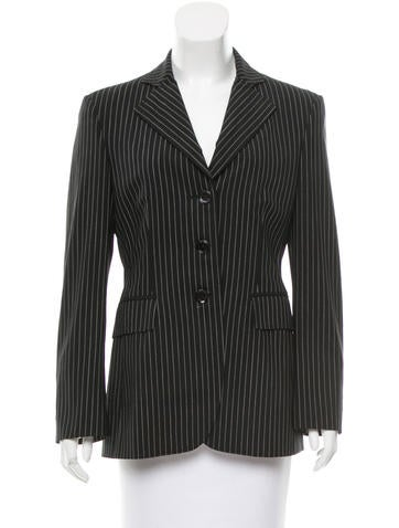 Moschino Wool Pinstripe Blazer