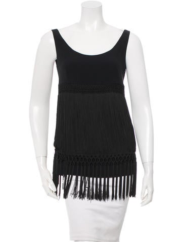Moschino Fringe-Accented Sleeveless Top None
