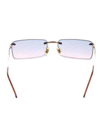 Tinted Rimless Sunglasses