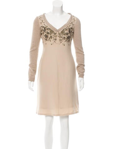 Moschino Silk Embellished Dress None