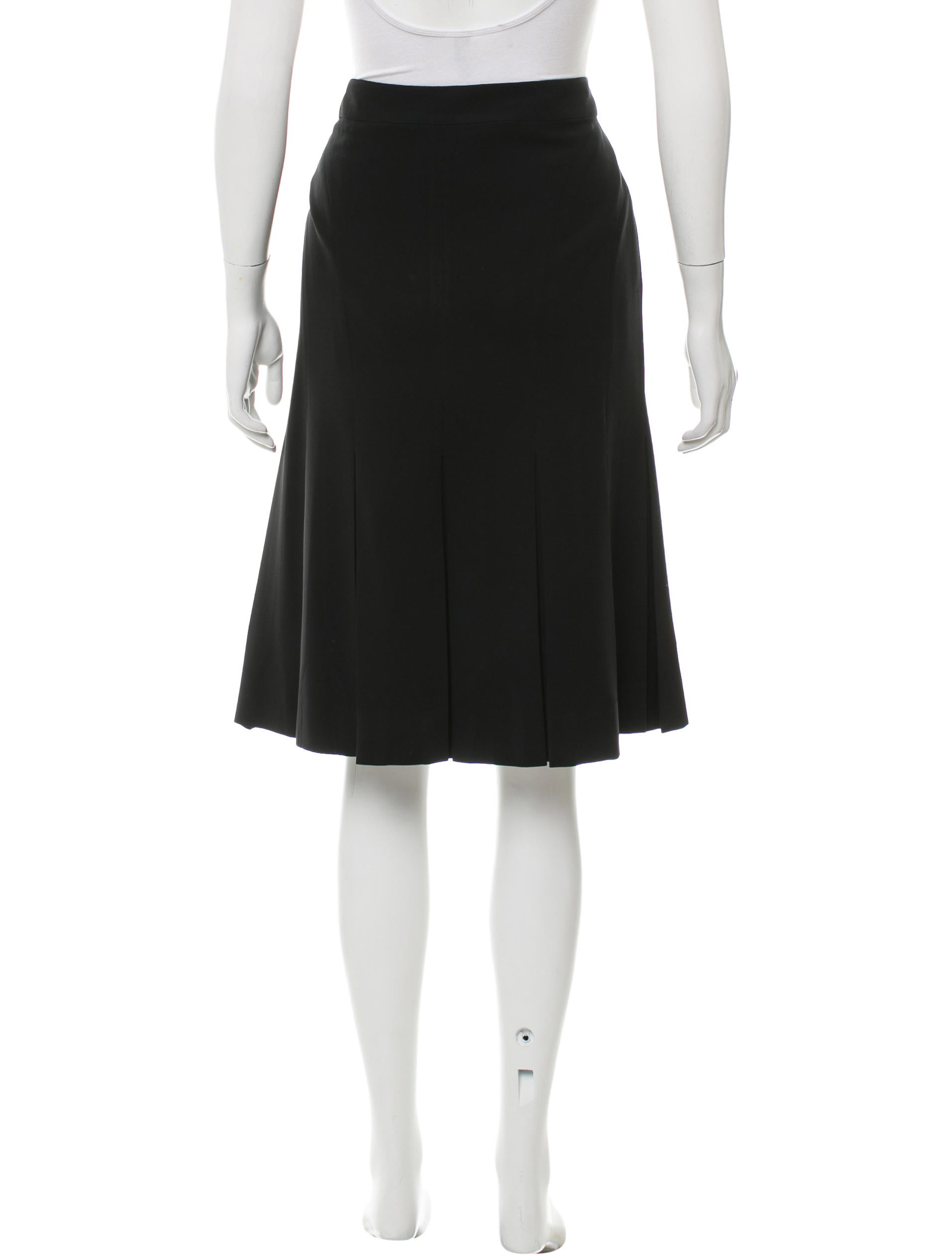 moschino pleated knee length skirt clothing mos26860