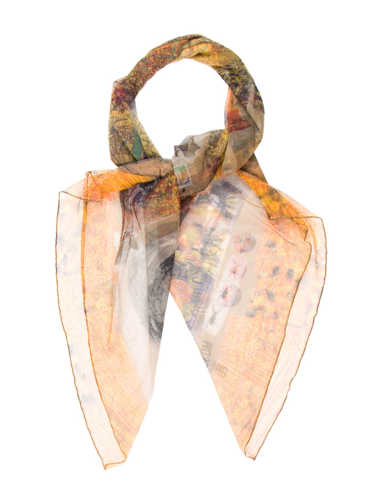 moschino mesh printed scarf accessories mos26876 the