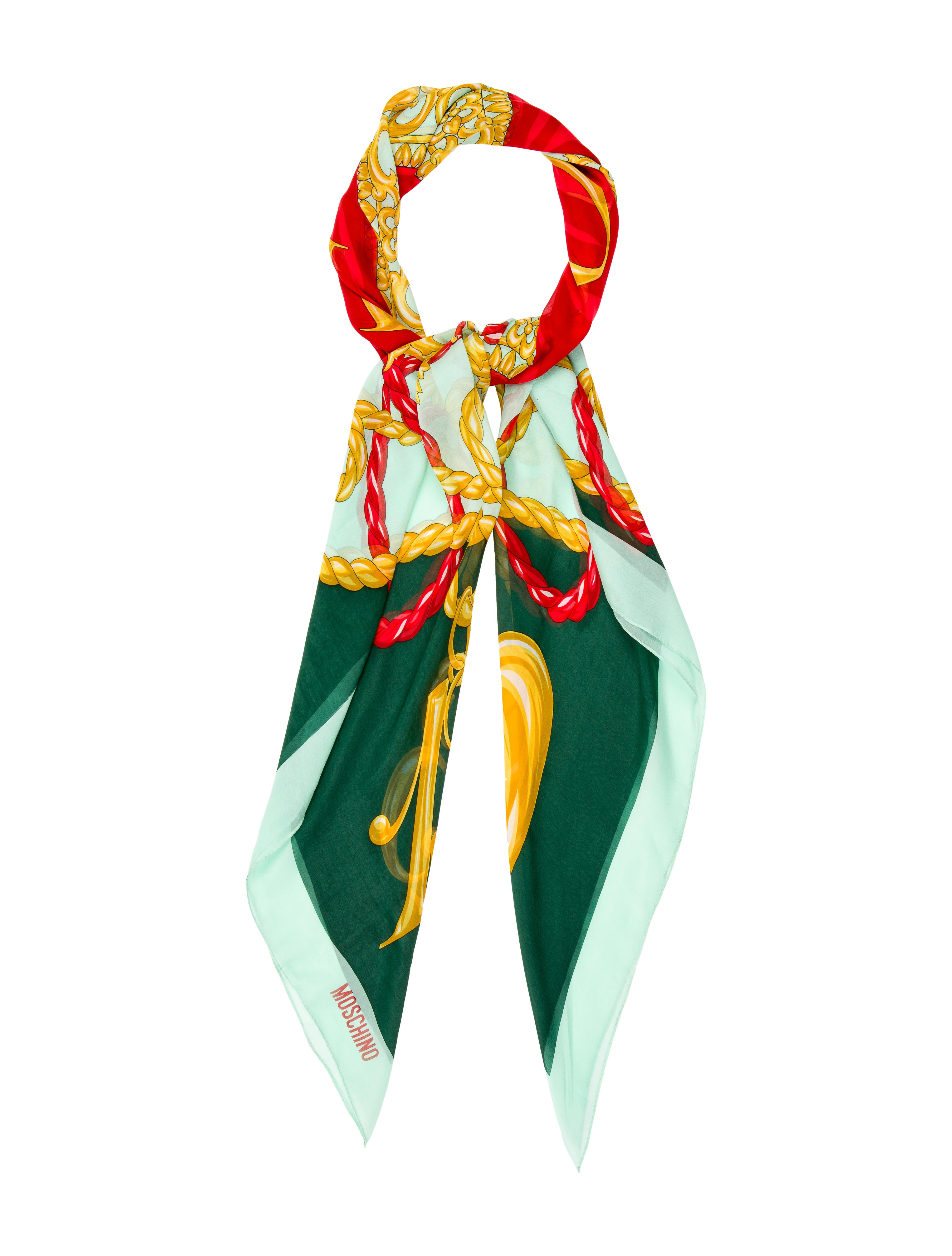 moschino abstract print scarf accessories mos26883