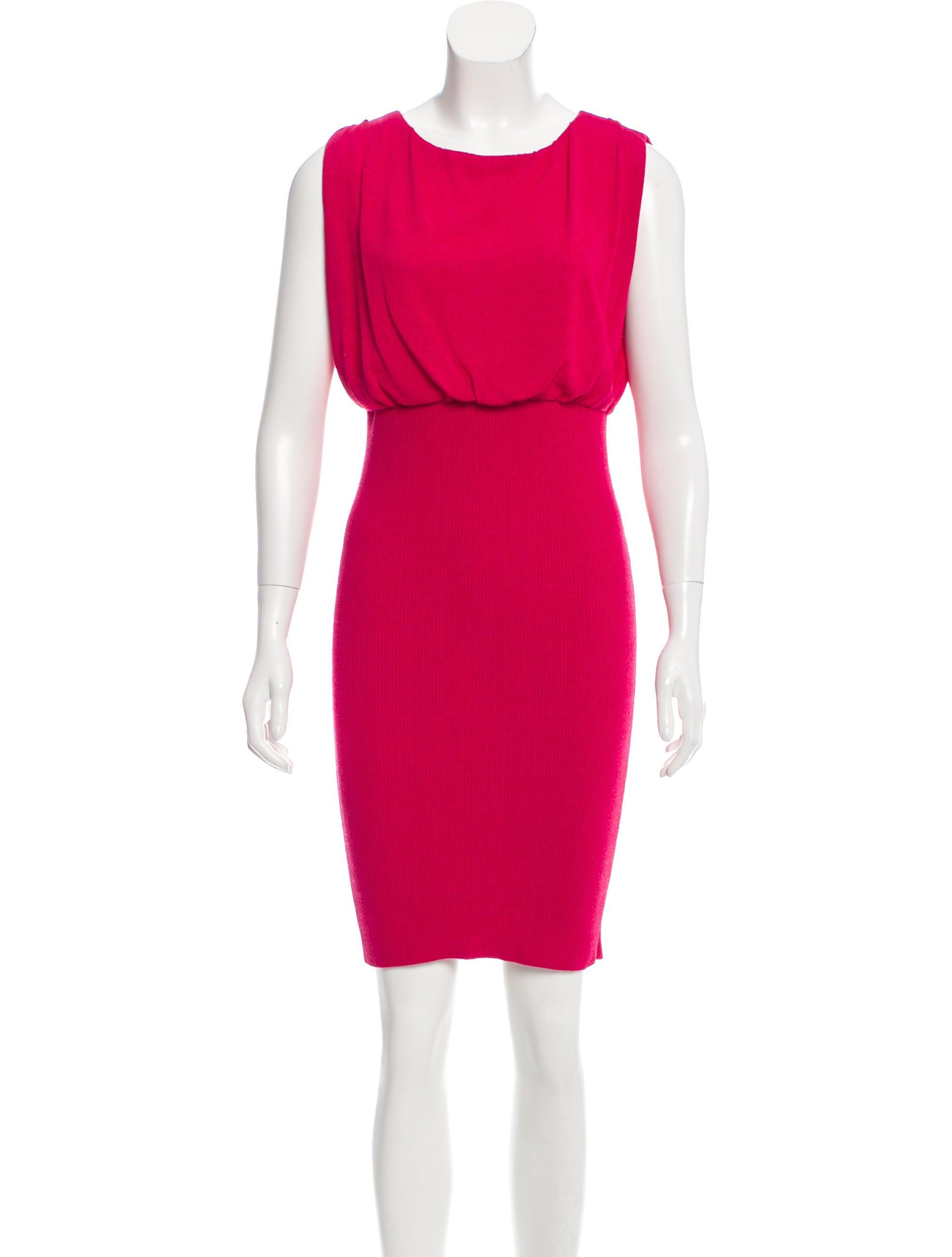 moschino sleeveless knit dress clothing mos26904 the