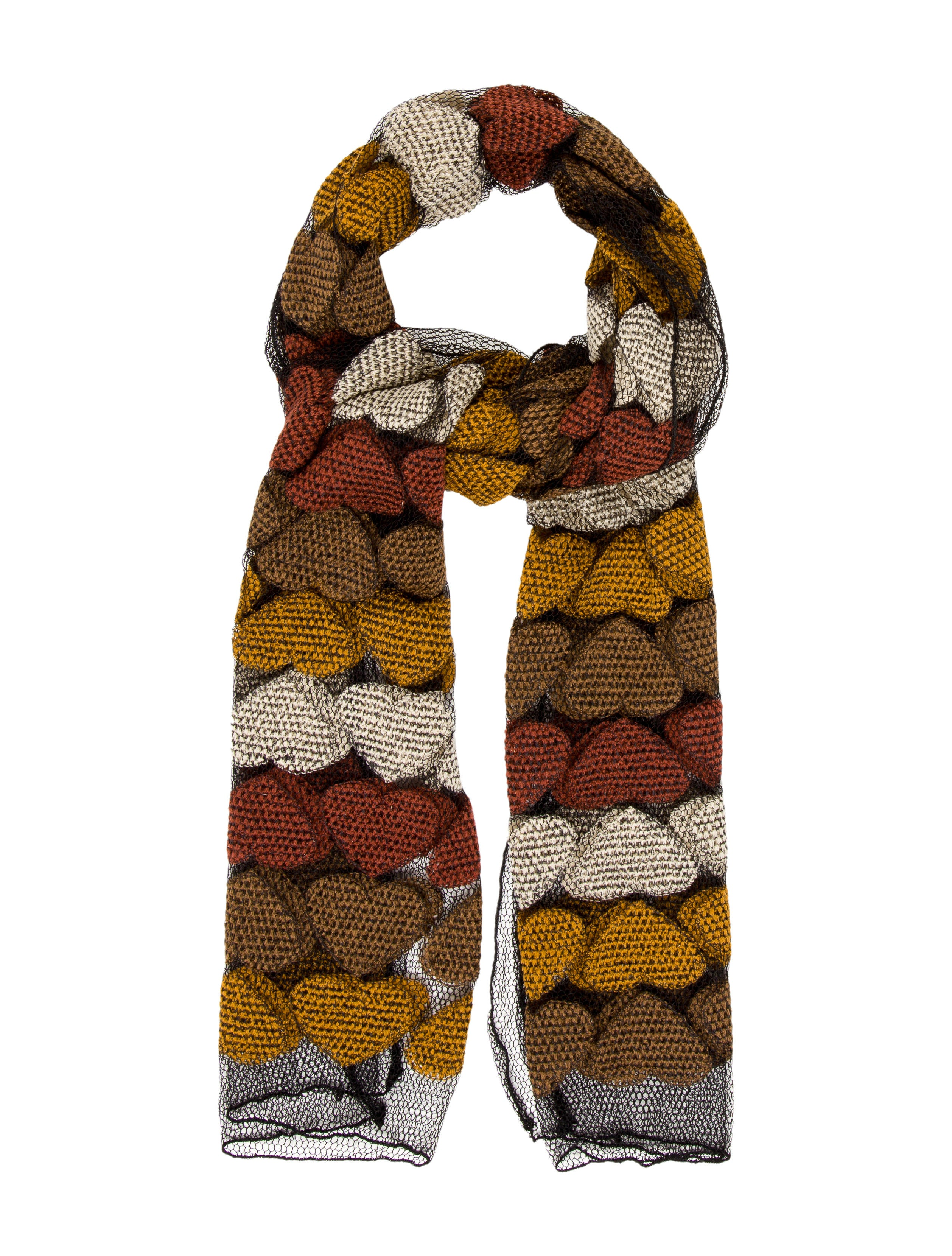 moschino patterned mesh scarf accessories mos27045