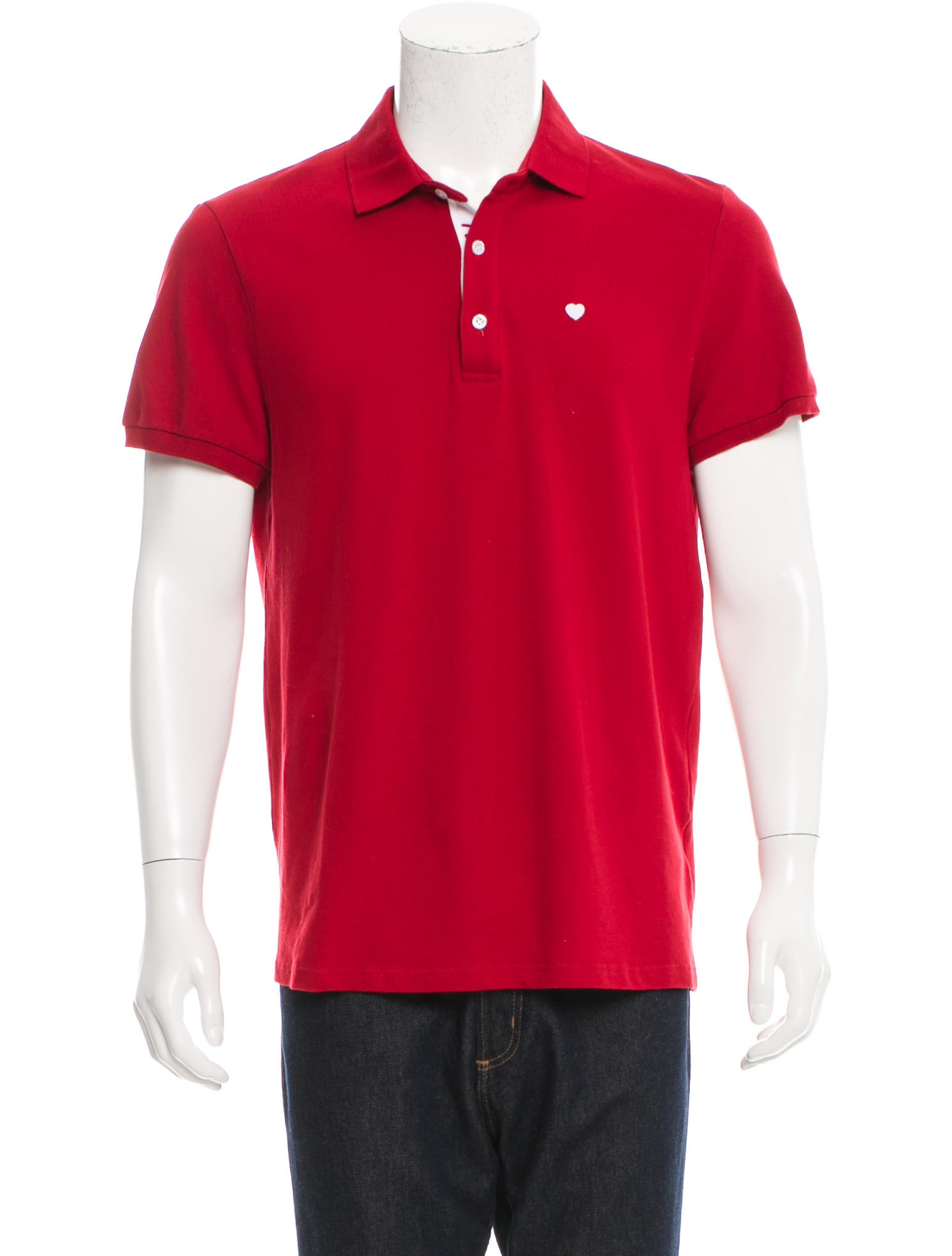 Moschino heart embroidered polo shirt clothing for Polo shirts with embroidery