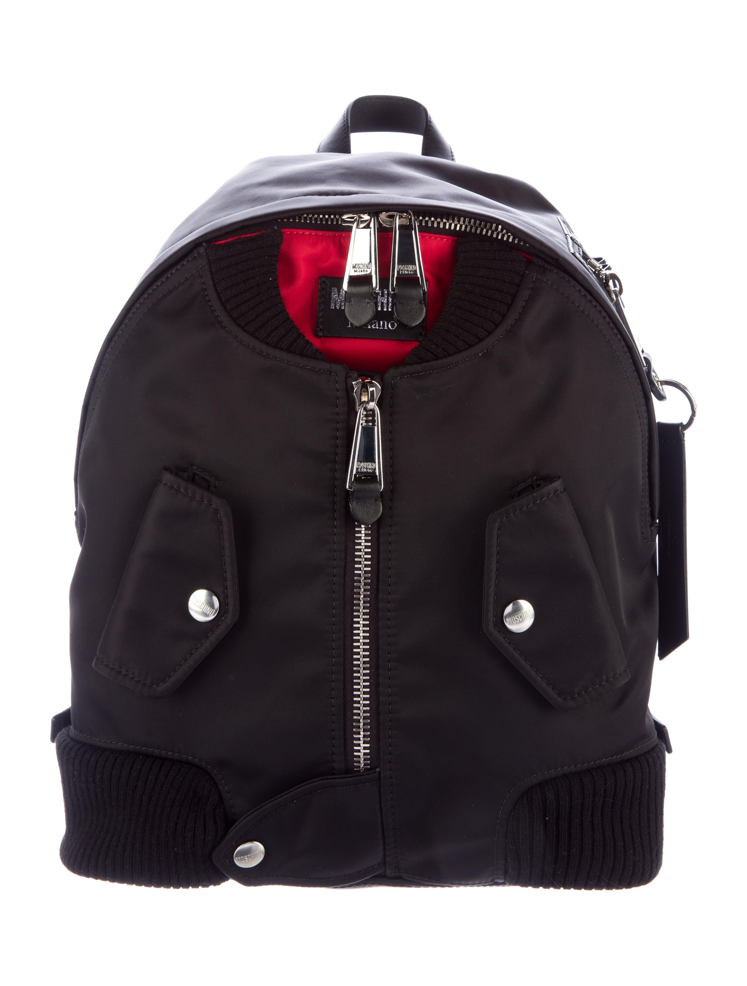 c763f179fcd Moschino Bomber Jacket Backpack w/ Tags - Handbags - MOS27319 | The ...